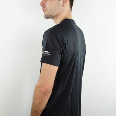 camiseta negra concert music